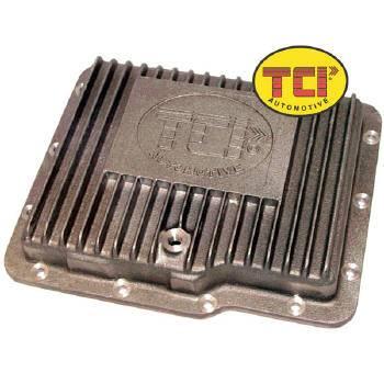 TCI Automotive - TCI Cast Aluminum Transmission Pan - GM Powerglide - Stock Depth