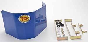 TCI Automotive - TCI Aluminum Trans-Shield -SFI 4.1 Approved - Blue - Fits GM TH350