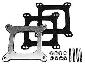 "Trans-Dapt Performance - Trans-Dapt Aluminum Carburetor Spacer - Holley 4 BBL - 3/8"" Tall - Open Center"