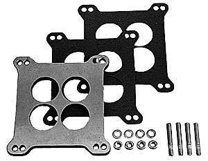 "Trans-Dapt Performance - Trans-Dapt Aluminum Carburetor Spacer - Holley 4 BBL - 3/8"" - 4 Hole"