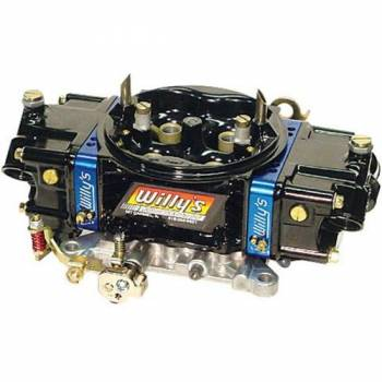 Willy's Carburetors - Willy's 4 BBL HP Carburetor - Alcohol - 850 CFM Baseplate - For 355-406 C.I. Engines