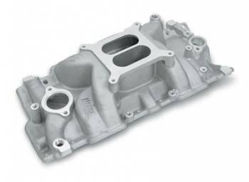 Weiand - Weiand Stealth Intake Manifold - Natural - Aluminum - Non-EGR - Square Bore - SB Chevy 262-400 - 57-86 and 87 Up w/ Aluminum Heads
