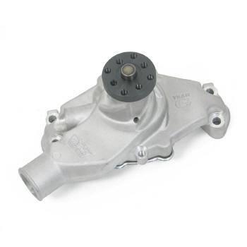 Weiand - Weiand Team G Aluminum Water Pump - High-Volume - Aluminum - Natural - SB Chevy (Short) 68 & Earlier, Chevrolet 90° V6