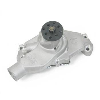 "Weiand - Weiand Team G Aluminum Water Pump - Adjustable - High-Volume - Natural - SB Chevy (Short) ""68 & Earlier, Chevrolet 90° V6"