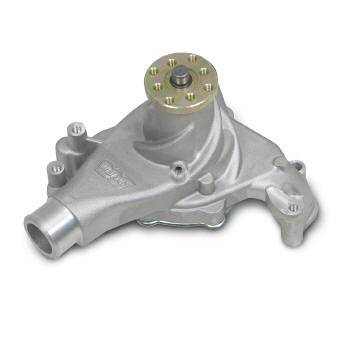 Weiand - Weiand Action Plus Aluminum Water Pump - High-Volume - Aluminum - Natural - SB Chevy (Long)