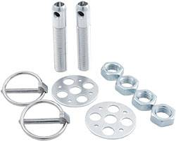 "Allstar Performance - Allstar Performance Lightweight Aluminum Hood Pin Kit - 1/2"" - Silver"