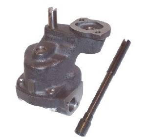 """Melling Engine Parts - Melling Select Performance SB Chevy Hi-Volume Oil Pump - 10% Volume Increase - 3/4"""" Inlet - Bolt-On Pickup - Anti-Cavitation Grooves (Race Only)"""