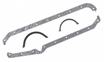Mr. Gasket - Mr. Gasket Oil Pan Gasket Set - Cork , Rubber - SB Chevy 75-79 262-400