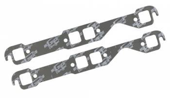 Mr. Gasket - Mr. Gasket Ultra-Seal Header Gaskets - Steel Core Laminate - Square Port - SB Chevy