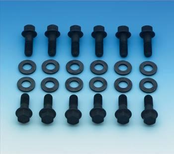 Mr. Gasket - Mr. Gasket Super Intake Manifold Bolts - Steel - Black Oxide - Hex Head - Chevy, Mopar, AMC - Set of 12