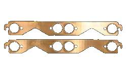 "SCE Gaskets - SCE 1.500"" Dia SB Chevy Copper Embossed Exhaust Gaskets"