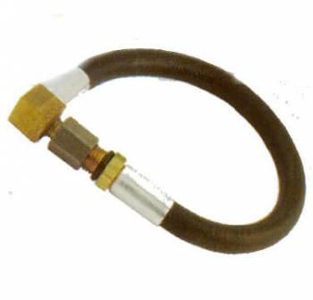 "Kinsler Fuel Injection - Kinsler Down Nozzle Lines -SAN Female x -3!W Female Swivel 90° - 19"" Long"
