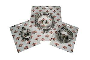"QuickCar Racing Products - QuickCar Stainless Steel Teflon Gauge Line Kit - 12"" Steel Braided Line and Fittings"