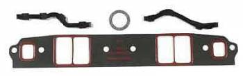 """Mr. Gasket - Mr. Gasket Silicone Intake Gaskets - SB Chevy 262-400 1955-91 1/16"""" Thick Ext Lrg Race Port 1.38"""" W x 2.38"""" H"""