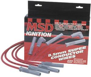 MSD - MSD 8.5mm Super Conductor Wire Set - Black - SB Chevy w/ HEI Cap