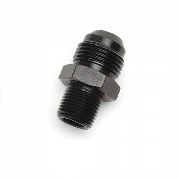 "Russell Performance Products - Russell ProClassic -12 AN to 1/2"" NPT Straight Adapter - Black"