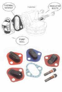 Seals-It - Seals-It Fuel Pump Seal & Insulator - Fits Race Pumps Fuel Pumps Only In SB Chevy