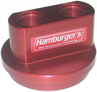 "Hamburger's Performance Products - Hamburger's Billet Oil Filter Bypass Adapters - Ford V-8 - 3/4""-16 and 2-1/2"" I.D./2-3/4"" O.D. O-Ring"