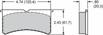 """Wilwood Engineering - Wilwood Polymatrix """"B"""" Compound Brake Pads - Fits Forged Superlite, Superlite 6"""