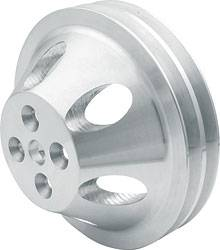 "Allstar Performance - Allstar Performance SB Chevy 1:1"" Water Pump Aluminum Double Groove Pulley - 6-5/8"""