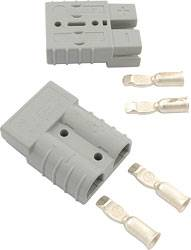 "Allstar Performance - Allstar Performance 50 Amp Gray Quick Disconnects - (1"" Pair)"