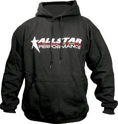 Allstar Performance - Allstar Performance Hooded Sweatshirt - Black - Medium