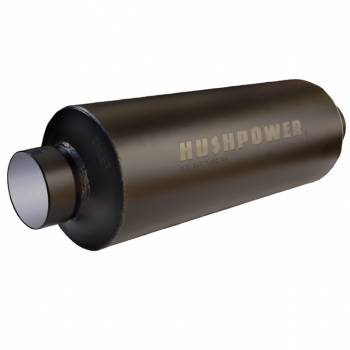 """Hushpower - Hushpower Pro Series Muffler - 3"""" Inlet, 3"""" Outlet - 6"""" D x 16"""" L Case - Aluminized"""
