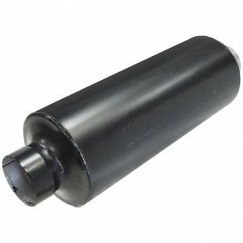 """Hushpower - Hushpower Pro Series Muffler - 4"""" Inlet, 4"""" Outlet - 8"""" D x 20"""" L Case - Aluminized"""