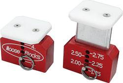"Moose Blocks - Moose Blocks Chassis Set-Up Blocks - Short - 1.75""-4"""