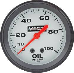 "Allstar Performance - Allstar Performance Oil Pressure Gauge - 2-5/8"" Diameter - 0-100 PSI"