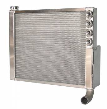 "Saldana Racing Products - Saldana Sprint Cross-Flow Double Pass Radiator - 20-5/8"" Wide x 16"" Tall - 1-1/2"" Outlet"