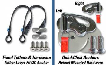 Hans Performance Products - Hans ® Device Quick Click Fixed Tether Upgrade Kit