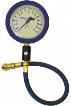 "Intercomp - Intercomp Ultra Deluxe Air Pressure Gauge - Glow-In-The-Dark - 4"" Face - 0-15 PSI"
