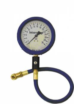 "Intercomp - Intercomp Ultra Deluxe Air Pressure Gauge - Glow-In-The-Dark - 4"" Face - 0-30 PSI"