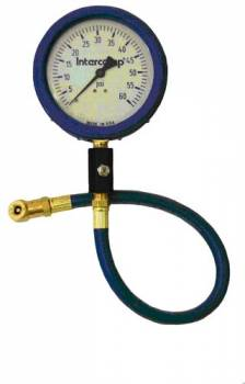 "Intercomp - Intercomp Ultra Deluxe Air Pressure Gauge - Glow-In-The-Dark - 4"" Face - 0-60 PSI"