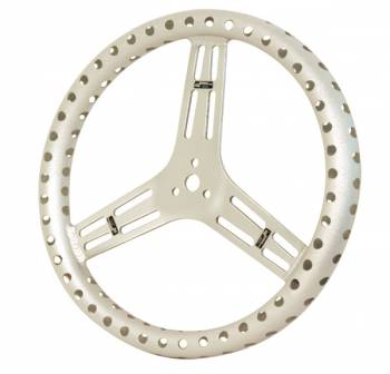 "Longacre Racing Products - Longacre 15"" Uncoated Aluminum Steering Wheel - Drilled - Flat (Sprint)"