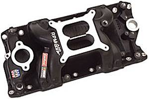 Edelbrock - Edelbrock NASCAR Edition RPM Air-Gap Manifold - SB Chevy 262-400 - 1500 to 6500 RPM - Black Finish
