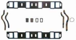 """Fel-Pro Performance Gaskets - Fel-Pro Printoseal Steel Core Intake Manifold Gasket Set - Steel Laminate - SB Ford 260-302, 351W - 2.00"""" x 1.20"""" Port - .065"""""""