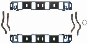 "Fel-Pro Performance Gaskets - Fel-Pro Printoseal Steel Core Intake Manifold Gasket Set - Intake - Steel Laminate - SB Ford - 260-302SB, 351W - 2.10"" x 1.28"" Port - .065"""