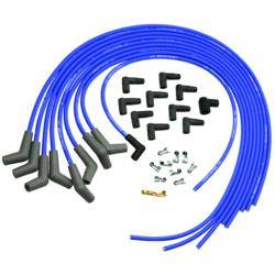 Ford Racing - Ford Racing 9mm Spark Plug Wire Set - Ford V-6 & V-8 Universal - Blue - 45° Boot