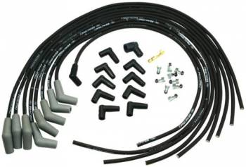 Ford Racing - Ford Racing 9mm Spark Plug Wire Set - Ford V-6 & V-8 Universal - Black - 45° Boot