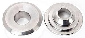"Manley Performance - Manley 10° Titanium Valve Spring Retainers - (16) - 1.550"" Diameter Double Springs - Standard Height Installed"