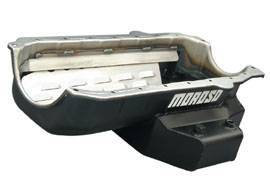 Moroso Performance Products - Moroso Power Kickout Series Late Model Circle Track Wet Sump Oil Pan - Fits Tube Chassis Cars - 6 Quart Capacity