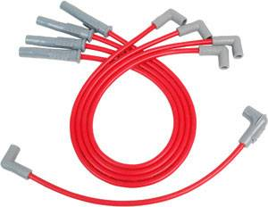 MSD - MSD Super Conductor Spark Plug Wire Set - Red - Ford 2300 4 Cyl.