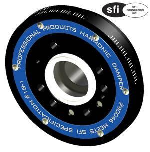 "Professional Products - Professional Products Powerforce+ Plus Lightweight Harmonic Damper - SFI 18.1 Approved - 6.4"" - SB Ford (Late) - 50 oz. - External Balance"