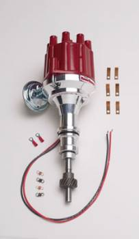 "PerTronix Performance Products - PerTronix Flame-Thrower Billet ""Plug N Play"" Distributor w/ Ignitor II® Module - Vacuum Advance - SB Ford 289-351W (Exc. 5.0L) - Female Cap"
