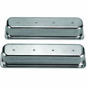 Racing Power - Racing Power Polished Aluminum Valve Covers - Tall - SB Chevy 87-97 Valve Covers - No Holes