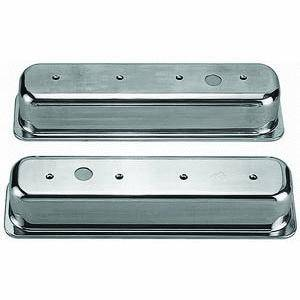 Racing Power - Racing Power Polished Aluminum Valve Covers - Tall - SB Chevy 87-97 Valve Covers - (1) Hole
