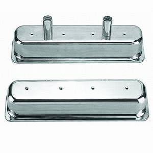 "Racing Power - Racing Power Polished Aluminum Valve Covers - SB Chevy 87-97 - 1-1/2"" O.D. Holes"