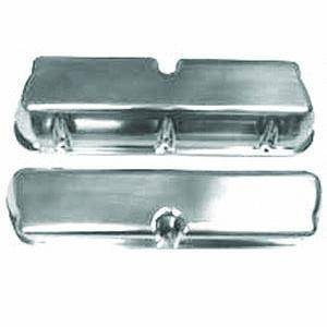 Racing Power - Racing Power Polished Aluminum Valve Covers - Tall - SB Ford 62-85 Valve Covers - No Holes